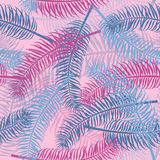 Vintage seamless palm leaves pattern background Stock Photos