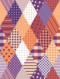 Vintage seamless patchwork pattern. Stock Images