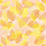 Vintage seamless pattern. Cute floral seamless pattern in vintage style Stock Images