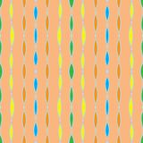 Vintage seamless pattern, 60s 70s textile Stock Image