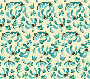 Vintage seamless pattern with abstract flowers Floral background Royalty Free Stock Photos