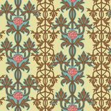 Vintage seamless pattern, art nouveau ornament. Vector illustration. Stock Photography