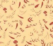 Vintage seamless pattern autumn leaves Stock Photos