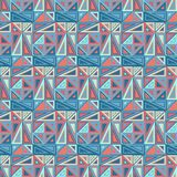 Vintage seamless pattern, background. Consists of geometric elements. Multicolored triangles of various shapes Stock Image