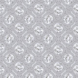 Vintage seamless pattern and background for web and mobile applications. In vector Royalty Free Stock Photo