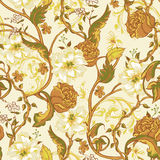 Vintage seamless pattern with blooming magnolias Stock Image