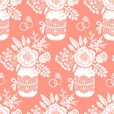 Vintage seamless pattern with a bouquet of flowers Royalty Free Stock Images