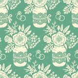 Vintage seamless pattern with a bouquet of flowers Stock Image