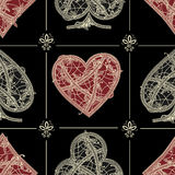 Vintage seamless pattern card suits Royalty Free Stock Image