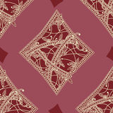 Vintage seamless pattern card suits Stock Image
