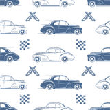 Vintage seamless pattern with cars Royalty Free Stock Image
