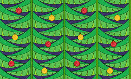 Vintage seamless pattern with christmas tree Royalty Free Stock Photo
