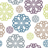 Vintage seamless pattern with circle Stock Image