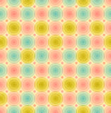Vintage seamless pattern with circles Royalty Free Stock Photography