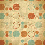 Vintage seamless pattern of colored circles Royalty Free Stock Photography