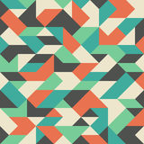 Vintage seamless pattern with colorful rhombuses. Royalty Free Stock Photography