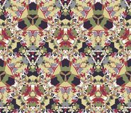 Vintage seamless pattern. Seamless pattern composed of color abstract elements located on white background. Stock Photos