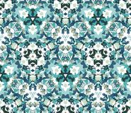 Vintage seamless pattern. Seamless pattern composed of color abstract elements located on white background. Royalty Free Stock Photo