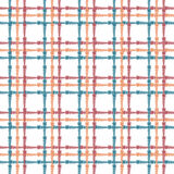 Vintage seamless pattern with crossing painted lines. Plaid texture for print, paper wallpaper, home decor, fashion Royalty Free Stock Photography