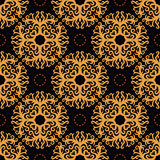 Vintage seamless pattern on dark background Stock Image