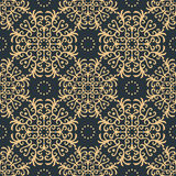 Vintage seamless pattern on dark background Royalty Free Stock Photo