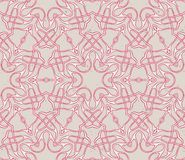 Vintage seamless pattern with eastern motif. Linear vintage pattern with eastern motif lacing and overlapping Stock Image