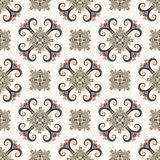 Vintage seamless pattern. Ethnic ornament. Boho style. Retro decorative elements. Repeatable background. Abstract floral plant. Or Royalty Free Stock Images