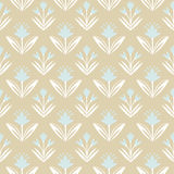 Vintage seamless Pattern with floral ornament. Seamless pattern with leaves and flowers, decorative floral texture stock illustration
