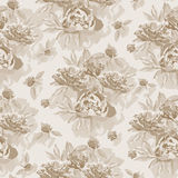 Vintage seamless pattern with floral ornament useful as backgrou Stock Photography