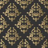 Vintage seamless pattern. Floral ornate wallpaper. Dark vector d Stock Photos