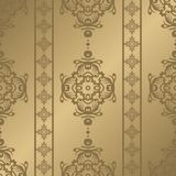 Vintage seamless pattern. Floral ornate wallpaper. Dark vector damask background with decorative ornaments and flowers in Baroque. Style. Luxury endless texture Royalty Free Stock Photos
