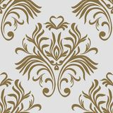 Vintage seamless pattern. Floral ornate wallpaper. Vector damask background with decorative ornaments and flowers in Baroque style vector illustration
