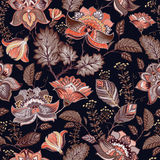 Vintage seamless pattern. Flowers background in provence style. Royalty Free Stock Photo