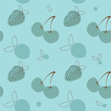 Vintage seamless pattern with fruits Royalty Free Stock Images