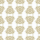 Vintage Seamless Pattern with gold Ethnic Ornament Royalty Free Stock Images