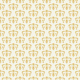 Vintage seamless pattern with golden ornament Royalty Free Stock Photo