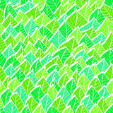 Vintage seamless pattern with green leaves Stock Photo