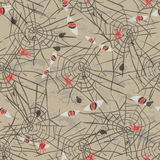 Vintage seamless pattern for Halloween party Royalty Free Stock Images