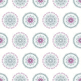 Vintage seamless pattern with hand drawn circles Royalty Free Stock Images