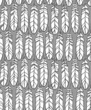 Vintage seamless pattern with hand-drawn feathers Royalty Free Stock Photography