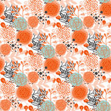 Vintage seamless pattern  hand drawn flowers Royalty Free Stock Images
