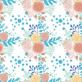 Vintage seamless pattern  hand drawn flowers Stock Image