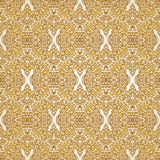 Vintage seamless pattern with lacy ornament in retro style. Gold brocade background. It can be used for wallpaper, pattern fills, web page background, surface Royalty Free Stock Images