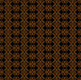 Vintage seamless pattern. Pattern made up of abstract shapes with curls  on a black background Stock Photography