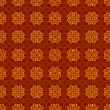 Vintage seamless pattern. Pattern made up of abstract shapes with curls  on a red background Stock Images