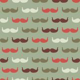 Vintage seamless pattern with mustache, vector Stock Photography