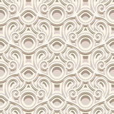 Vintage seamless pattern in neutral color Stock Image