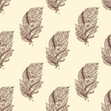 Vintage seamless pattern with original hand drawn Stock Photography