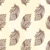 Vintage seamless pattern with original hand drawn Stock Image
