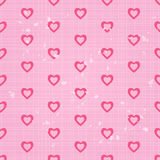 Vintage Seamless Pattern with Pink Hearts Stock Images